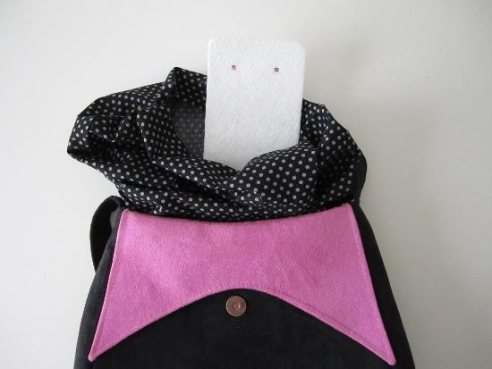Placer le rectangle de molleton au fond du sac.