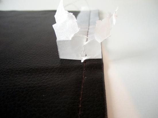 Arracher le papier sulfurisé