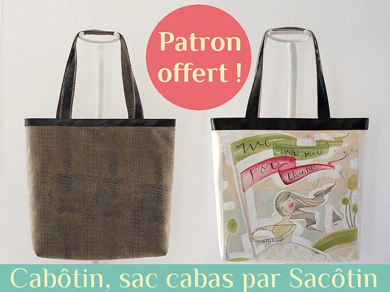 Cabôtin} Free tote bag pattern - Sacôtin