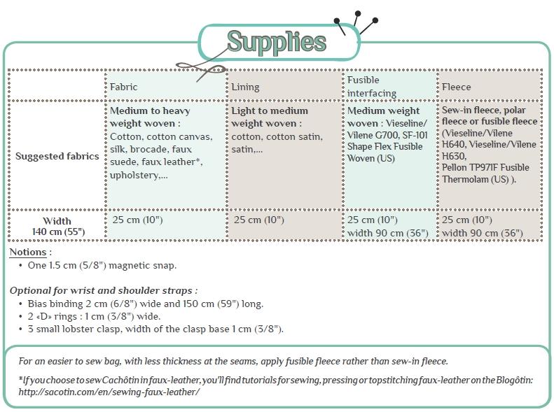 free clutch pattern supplies
