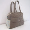 Quilted fabric diaper bag
