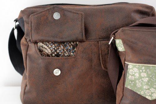 Poche à rabat dans la couture - Besace Zip-Zip Sacôtin