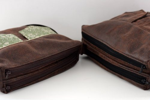 Taille Medium à gauche et Large à droite - Besace Zip-Zip Sacôtin