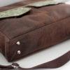 Zip-Zip messenger bag bottom