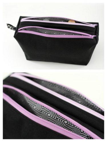 Version 3 - Trousses féminines compartimentées - Trousses Zip-Zip