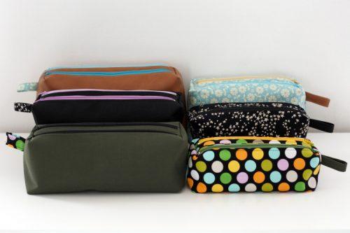 Zip-Zip double zipper pouches pattern