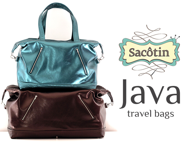 Java travel bag pattern - Sacôtin