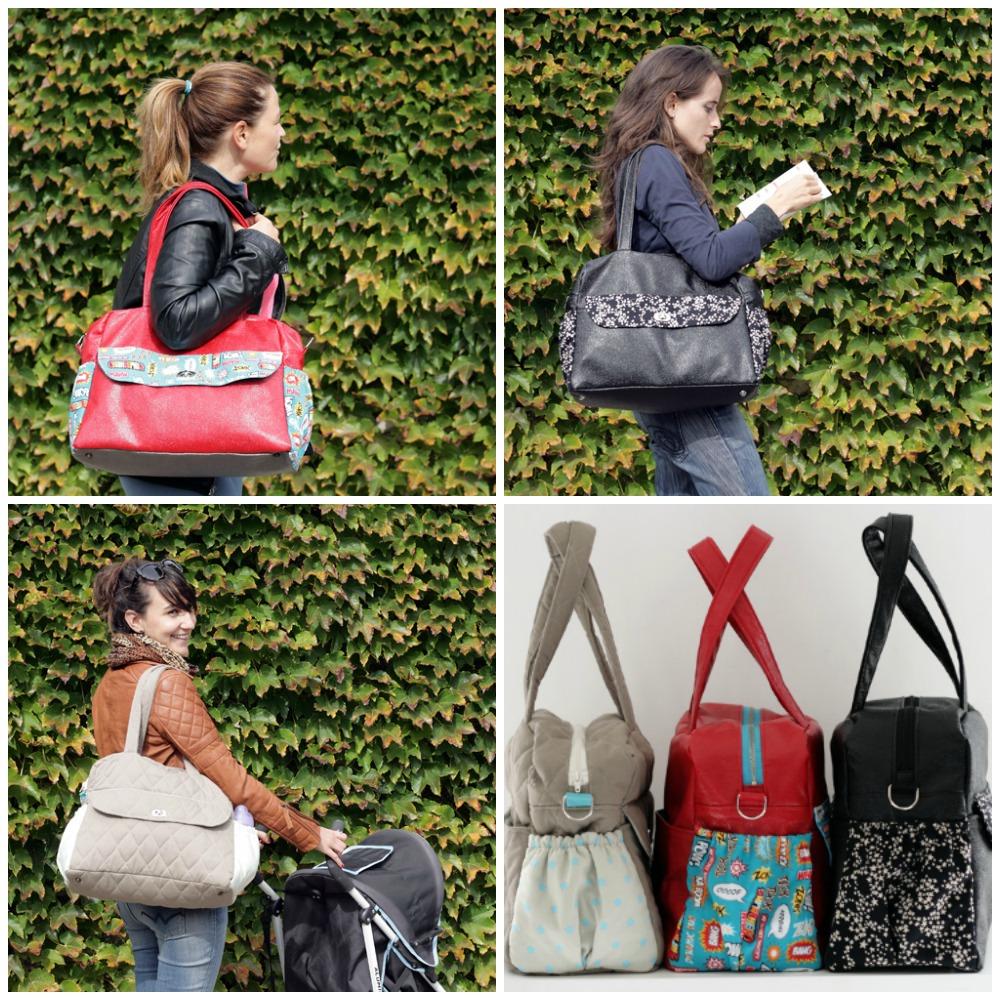 Diaper bag, weekender or gym bag pattern