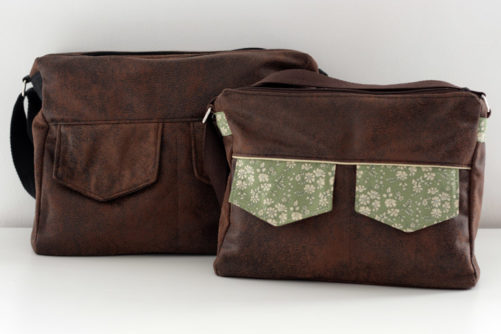 Large left - Medium right - Zip-Zip Messenger bag pattern