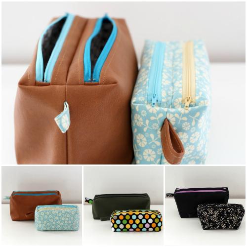 Zip-Zip pouches pattern - Sacotin