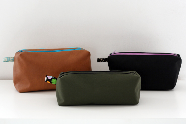 Large Zip-Zip pouches