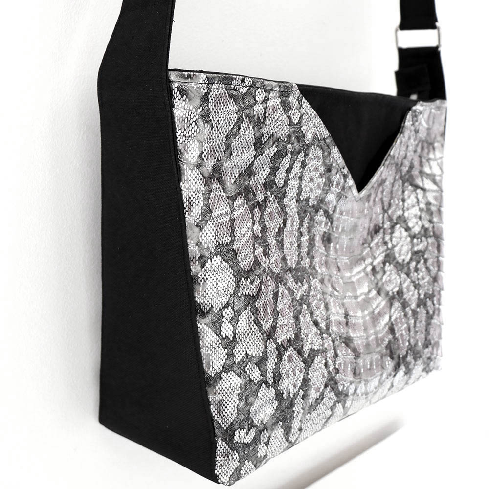 Mambo Medium - Côté - Simili et toile à sac