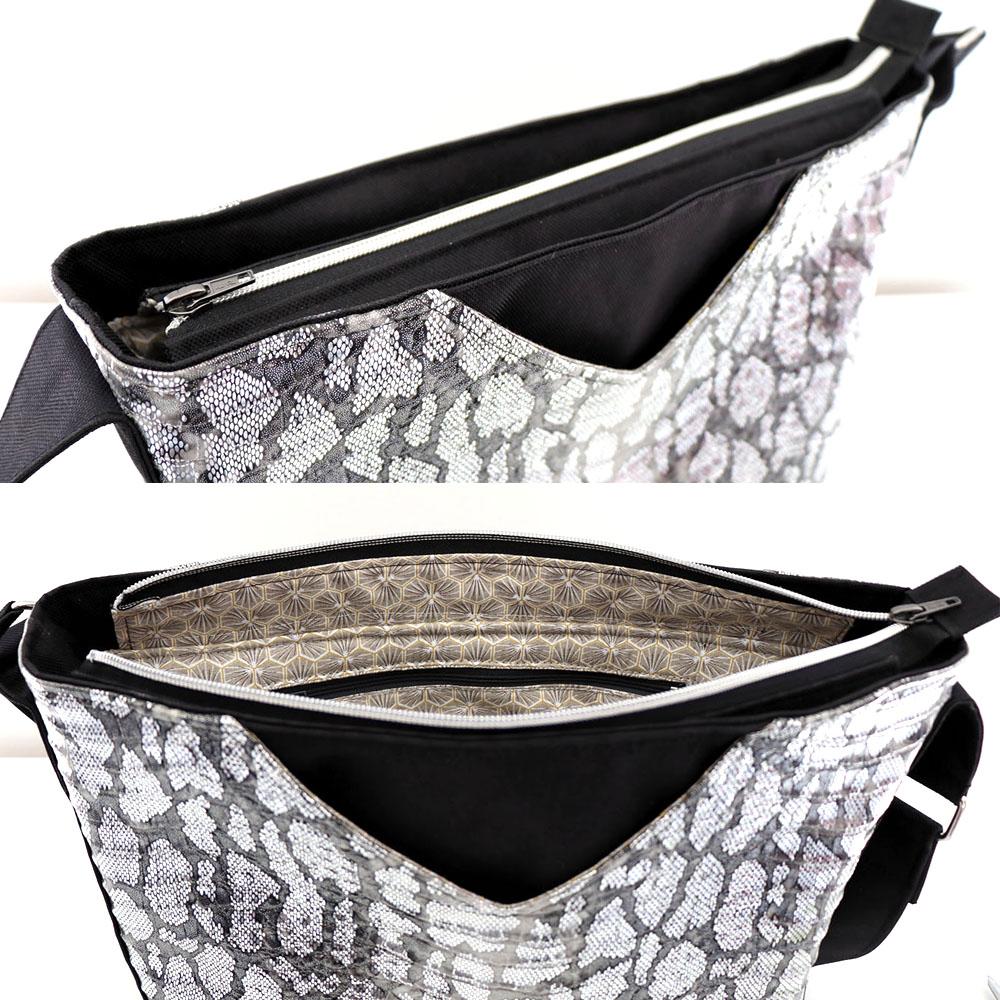 Mambo Medium - Fermeture zippée - Simili et toile à sac